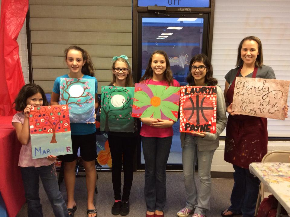Painting Classes are fun for Kids and Parents